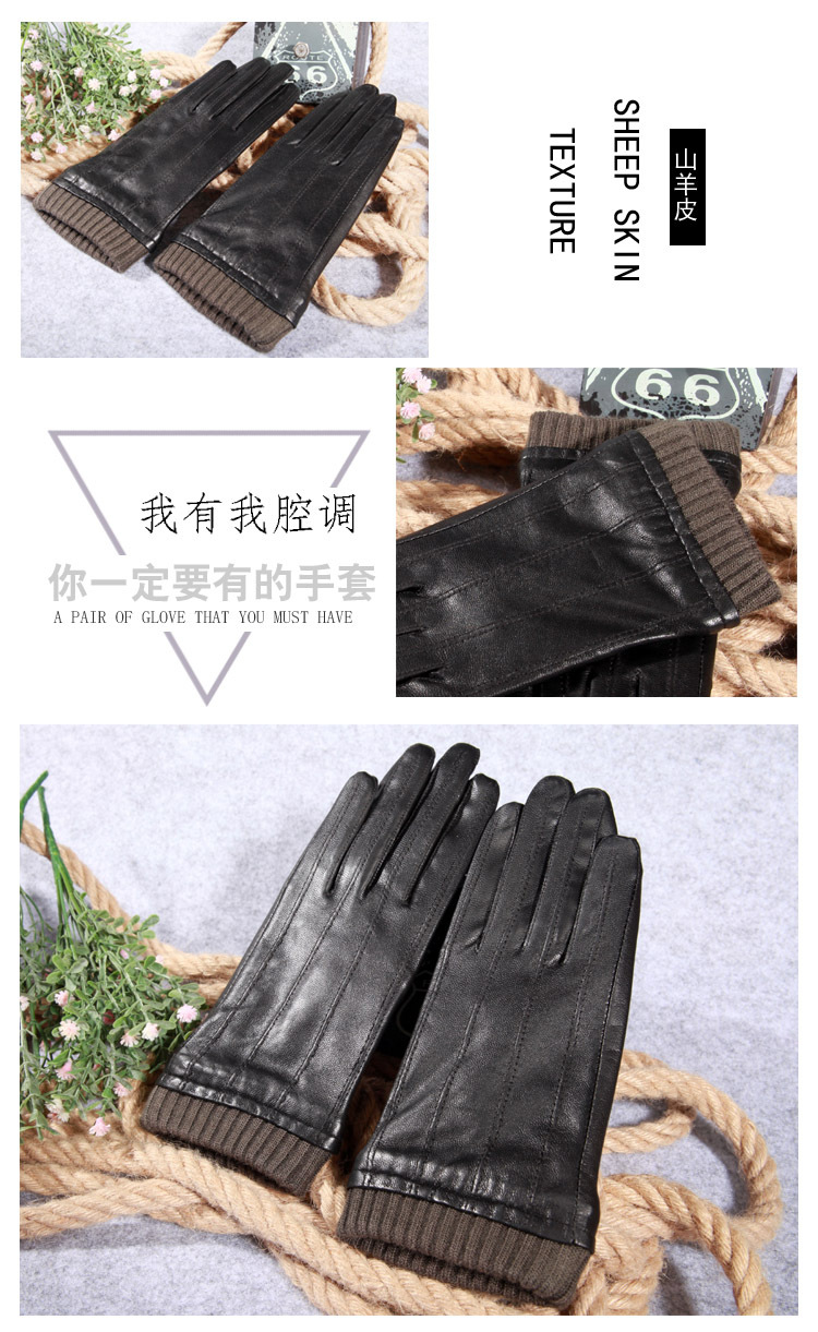 b53f9951cac4a Q45 New Fashion Leather Gloves Men's Fine Goatskin with Suede Winter Warmth  Bike Leather Glove Lovers Winter Gloves Men 1 1-2 1-4 4 2 3 5 6 6-1 9-3 9-1