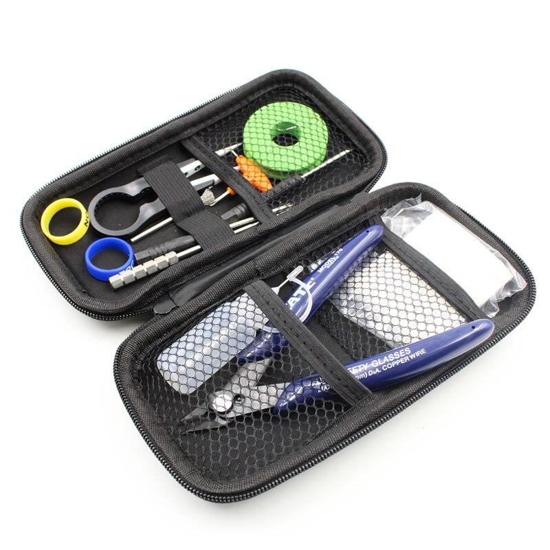 Vape Werkzeugsatz Ewinvape Spule DIY Master 12 Werkzeuge für RDA RDTA RTA Verdampfer DIY schraubenspannvorrichtung dampf Keramik Pinzette baumwolle flasche draht