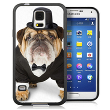 Funny Pug Dog in Top PrintMobile Phone Cases Bags OEM For Samsung S4 S5 S6 S7 edge plus Note 2 Note 3 Note 4 Note 5 Soft Cover