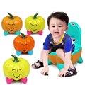 Orinal Bebé Asiento Del Inodoro Orinal Portátil Silla Plegable De Plástico de dibujos animados Lindo de la calabaza de Cajón de Formación Orinal bebé de Aseo de Los Niños