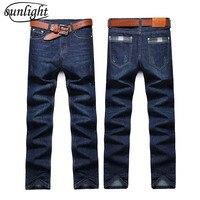 2018 Fashion Sunlight Straight Mens Biker Jeans Men Homme Casual Blue Denim Design Mens Clothing China