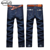 2018 Fashion Sunlight Straight Mens Biker Jeans Men Homme Casual Blue Denim Design Mens Clothing China