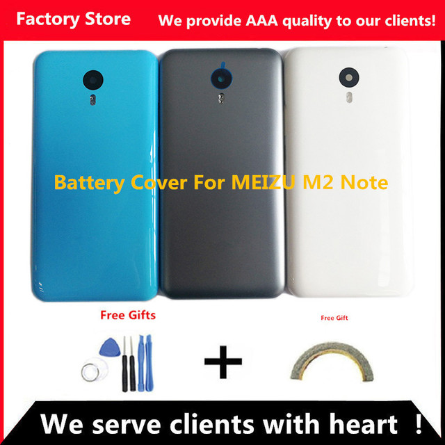 Q&Y QYJOY 5.5 inch Battery Back Cover For Meizu M2 Note Battery Cover Door case housing replacement, Camera Lens+ Buttons