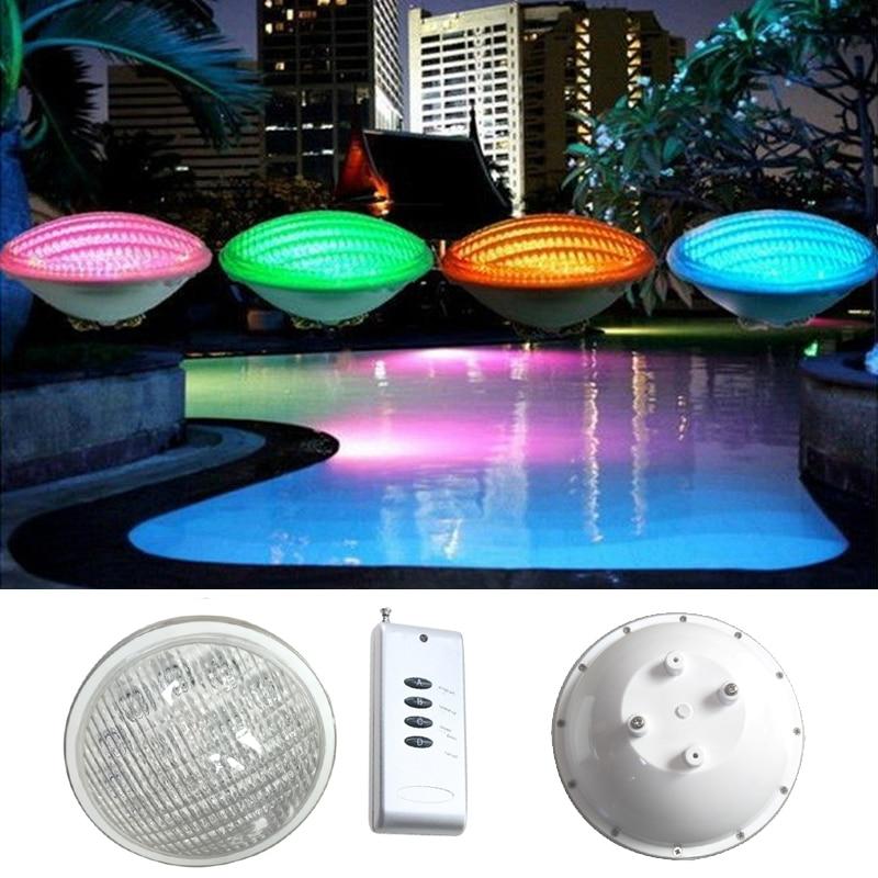 ФОТО LED PAR56 pool light 54W 12V RGB IP68 18led LED Swimming Pool Light Outdoor Lighting Underwater Pond lights led piscina CE RoHS