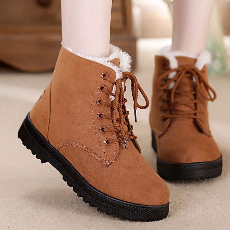 403818a959d Fashion warm snow boots 2018 heels winter boots new arrival women ankle  boots women shoes warm