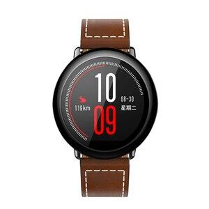 Image 5 - Dành Cho Original Xiaomi Huami AMAZFIT Pace Dây Đồng Hồ Da Thật Chính Hãng Da Thay Thế Smart Watch Ban Nhạc Cho Amazfit GTR 47 Mm