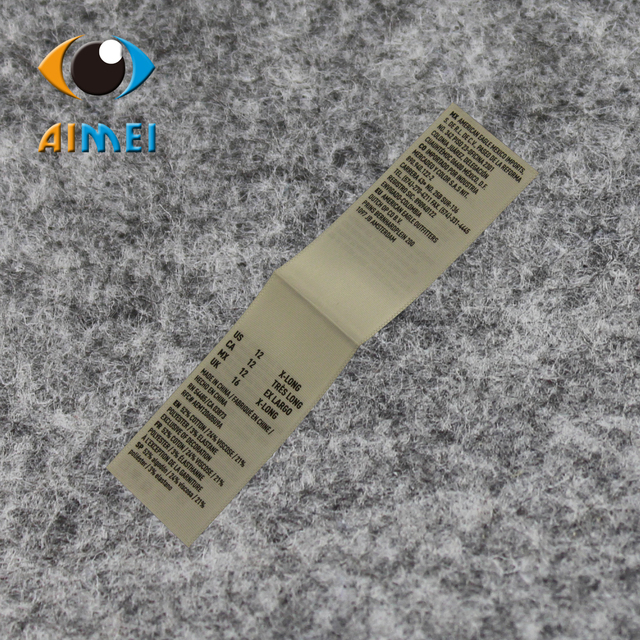 ccfc0a87232 US $19.88  Wholesale/Retail 1X8cm eco friendly black ribbon printed labels  fashion clothing shoes label free shipping 100/lot C 012-in Garment Labels  ...