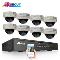 ARSECUT 2 0MP 8CH Wireless CCTV System 8CH HD WI FI NVR Kit Outdoor IR Night