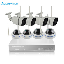 Aokwe New arrival 8ch inside and outside IR 1080P IP Real p2p WiFi wireless cctv camera WiFi surveillance system