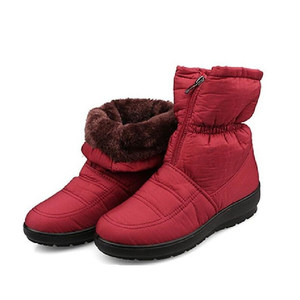 Image 5 - snow boots 2017  Winter zimnafr brand warm non slip waterproof women boots mother boots casual cotton autumn boots female shoes