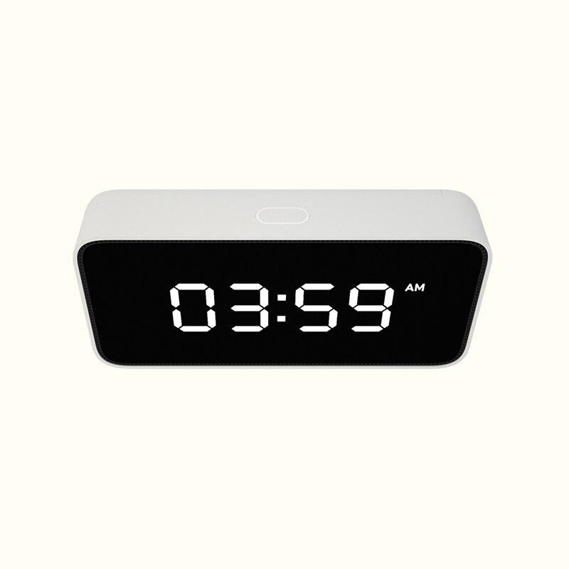 Xiao mi Xiaoai Smart Voice Diffusion réveil ABS Table Dersktop Horloges AutomaticTime travaux D'étalonnage avec mi maison app - 6