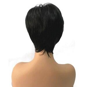 Image 5 - StrongBeauty Kadın Sentetik Peruk Kısa Peri Kesim Kül Kahverengi/Çamaşır Suyu Sarışın Vurgulanan/Balayage Saç Doğal Peruk
