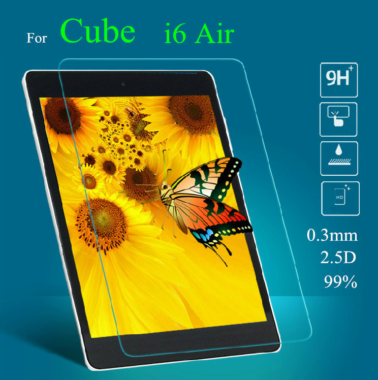 I6 Air 9.7 inch Glass Screen Protectors For Cube i6 air Talk 9X Tempered Glass Screen Protector 9x u65gt glass protector
