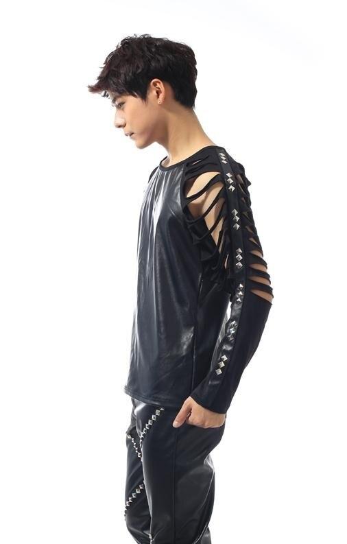 Черные выступления 1 рок для мужчин S футболки Мода футболка camisetas masculinas одежда Настраиваемые