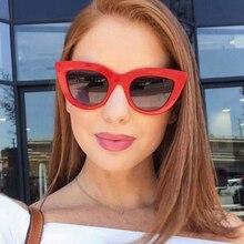 Женские солнцезащитные очки в оправе кошачий глаз [EL Malus], черно-белые зеркальные солнцезащитные очки в стиле ретро