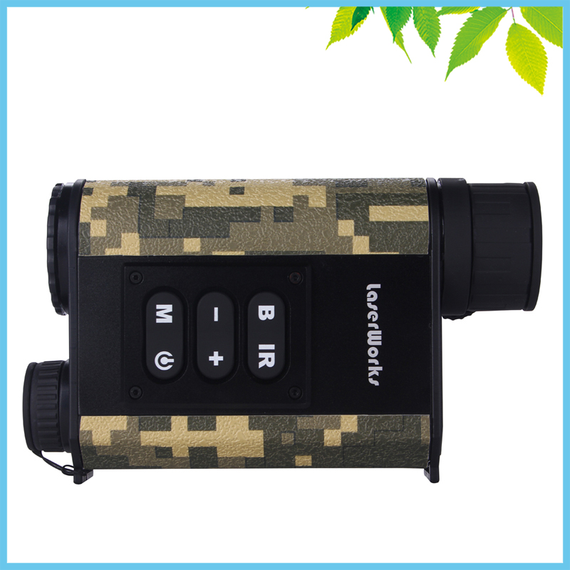 500m Camouflage Digital IR Night Vision Laser Rangefinders Scope Compass Atmospheric Temperature Security Positioning Metal Body