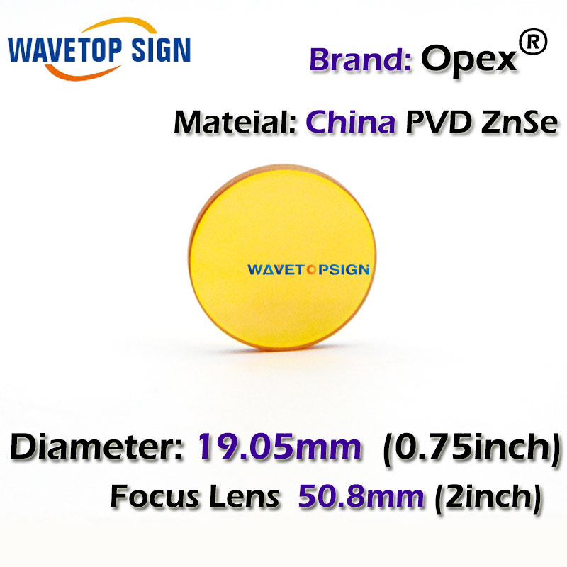 free shipping China PVD ZnSe CO2 Laser Focusing Lens Dia. 19. 05 FL 50.8mm 2inch Cutting Engraving Machine Accessories Carving high quality znse focus lens co2 laser engraving cutter dia 19mm fl mm 1 5 free shipping