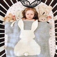 Nordic Baby Blankets Rabbit Crochet Newborn Blanket Kids Room Bed Spread Bath Towels Bedding Cover Appease Sofa Baby Photo Props
