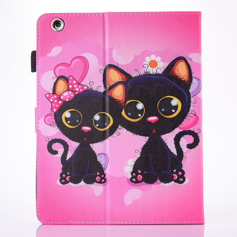 Cartoon Silicone Leather Flip Cover Owl Cat Pattern Stand Shell Ipad 2 3 4