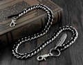 Leather Braided Biker Trucker Pants Fob Keychain Jean Wallet Chain YL-58