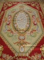 Carpet Handmade Home Decoration Carpet Aubusson Carpet Wool Knitting Carpets Square Rug