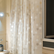 1818cm Round Pattern Bathroom Curtain Waterproof Moldproof Polyester Shower Products