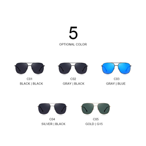 Image 4 - MERRYS Men Classic Sunglasses Aviation Frame HD Polarized Shades For Driving Sun Glasses UV400 Protection S8173