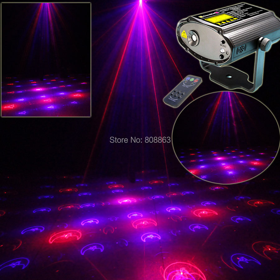 ESHINY Mini Red Blue Laser 12 Christmas Pattern Xmas Projector Dance Disco Bar Party Stage Lights DJ lighting Effect Light T23