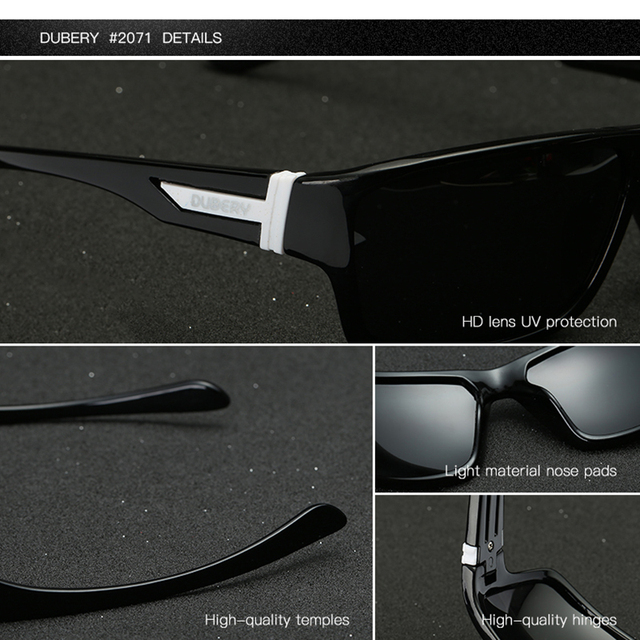 DUBERY Polarized Sunglasses Men's Aviation Driving Shades Male Sun Glasses For Men Safety 2017 Luxury Brand Designer Oculos