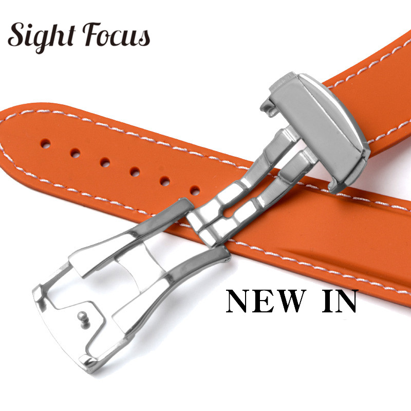 Image 4 - Pulseira de relógio de silicone de borracha para omega  speedmaster seamaster aqua terra correia de relógio 20mm 22mm masculino  pulseira de relógio laranjaPulseira do relógio