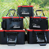 11/19/23/28/35L Collapsible Folding Thicken EVA Plastic Live Fish Tank Bucket Oxygen Pump Outdoor Camping Fishing Tackle Boxes