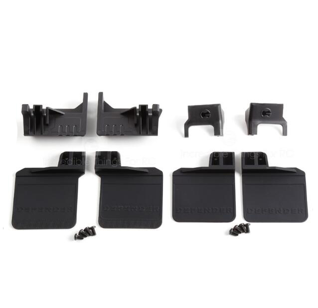 Front+Rear Rubber Fender Mudguard for Traxxas TRX4 DEFENDER TACTICAL UNIT Bronco 1/10 Scale RC Crawler Truck Model