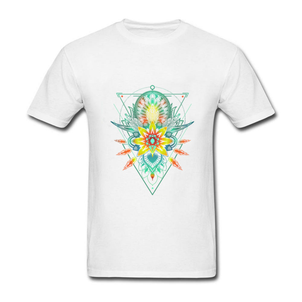 Newest cotton t shirts for mens discount geometric triangle mandala newest cotton t shirts for mens discount geometric triangle mandala ornament lotus flower t shirts for men great interesting in t shirts from mens izmirmasajfo Images