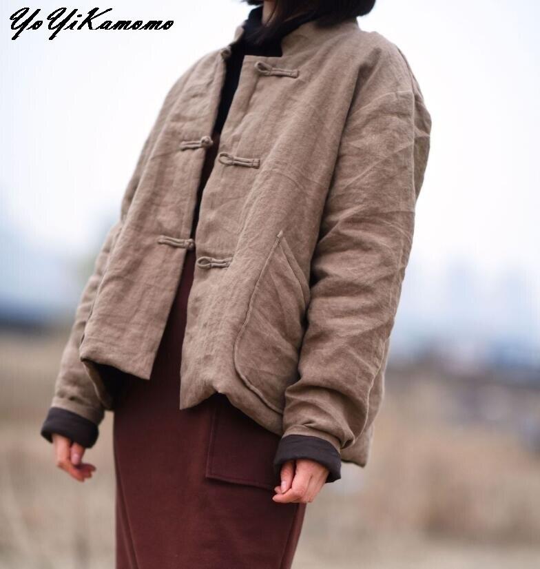 YoYiKamomo ciepłe grube parki dla kobiet zima nowy 2018 bawełna pościel Khaiki bawełny wyściełane ciepłe odzież damska w Parki od Odzież damska na  Grupa 1