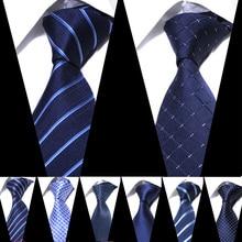 Men Tie 8cm Width  ties luxury Mens Fashion Striped Neckties Corbatas Gravata Jacquard Business man's Wedding dress Slim Tie fashionable purple plant jacquard 8cm width tie for men
