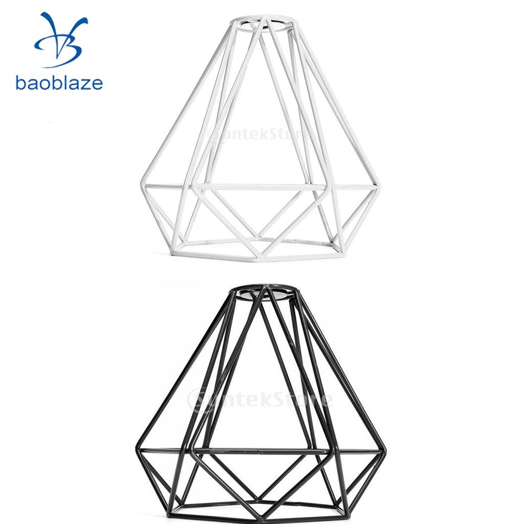 Set Of 2 Antique Wire Loft Pendant Ceiling Light Lamp Cage Light Shade For Asile Hallway Dining