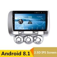 9 2.5D IPS Android 8,1 DVD мультимедиа плеер gps для honda Fit jazz 2004 2005 2007 2006 аудио автомобиля Радио стерео навигации