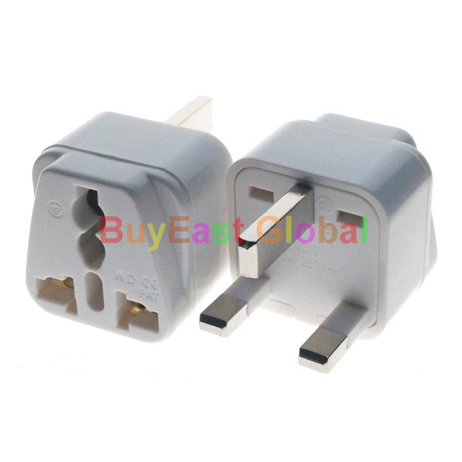 EU Electrical Plug Adapter w// LED Main Switch AC100~250V Mulit Outlet 2 PCS