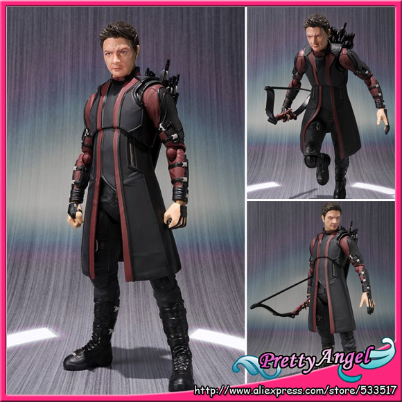 PrettyAngel - Genuine Bandai Tamashii Nations S.H.Figuarts Exclusive Avengers 2 Age of Ultron HAWKEYE Action Figure prettyangel genuine bandai tamashii nations s h figuarts exclusive injustice superman injustice ver action figure