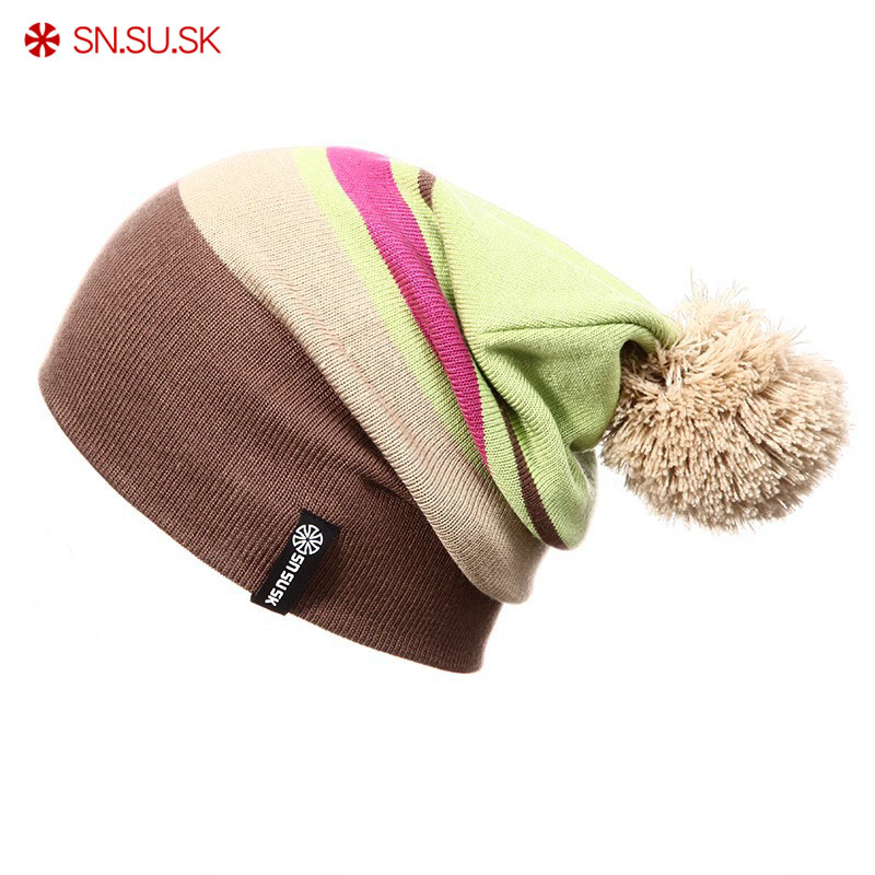 SN.SU.SK 2019 Winter Gorros Skating Winter snowboard   skullies   Ski Hat   Beanies   for Man Woman   Beanie   knitting bonnet chapeu