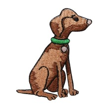 цены Custom embroidered Patches Cut puppy dogs Applique Iron Sew ON Patch Cloth factory customize OEM service  avaliable