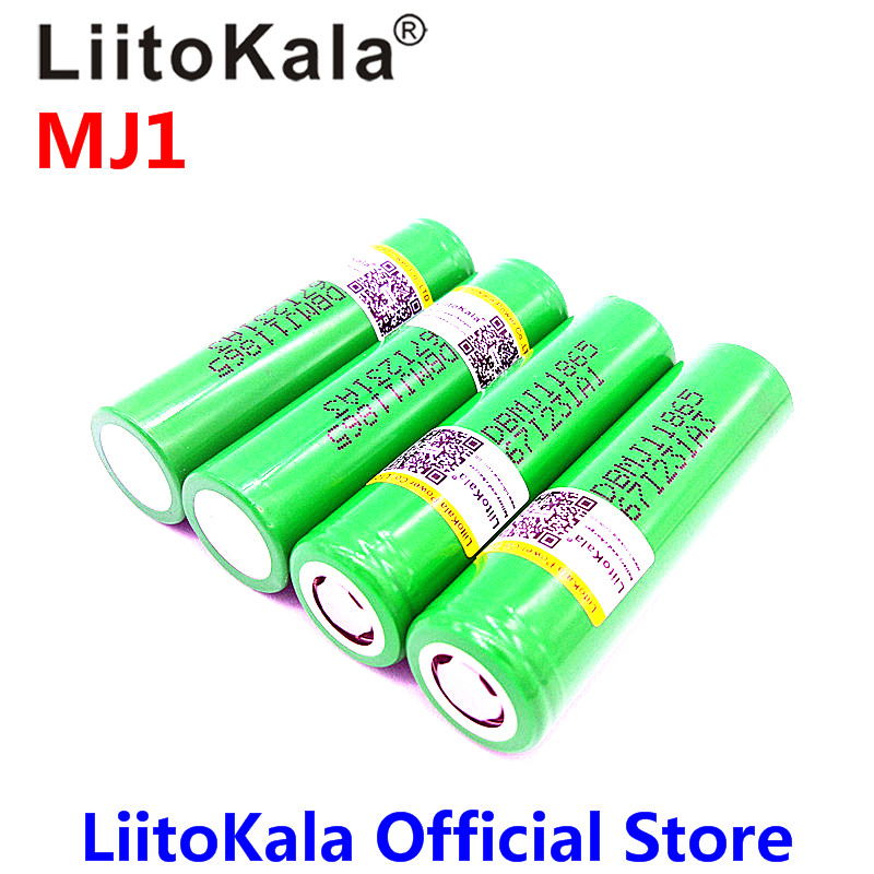 цена New LiitoKala for MJ1 18650 INR18650MJ1 10A discharge li-ion battery cell 3500mah INR18650MJ1 batteries