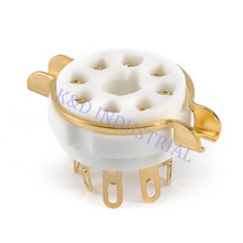цены 5pcs 8pin Ceramic Gold Plate Vacuum Tube Audio Amplifier Socket Octal Valve For KT88 EL34B