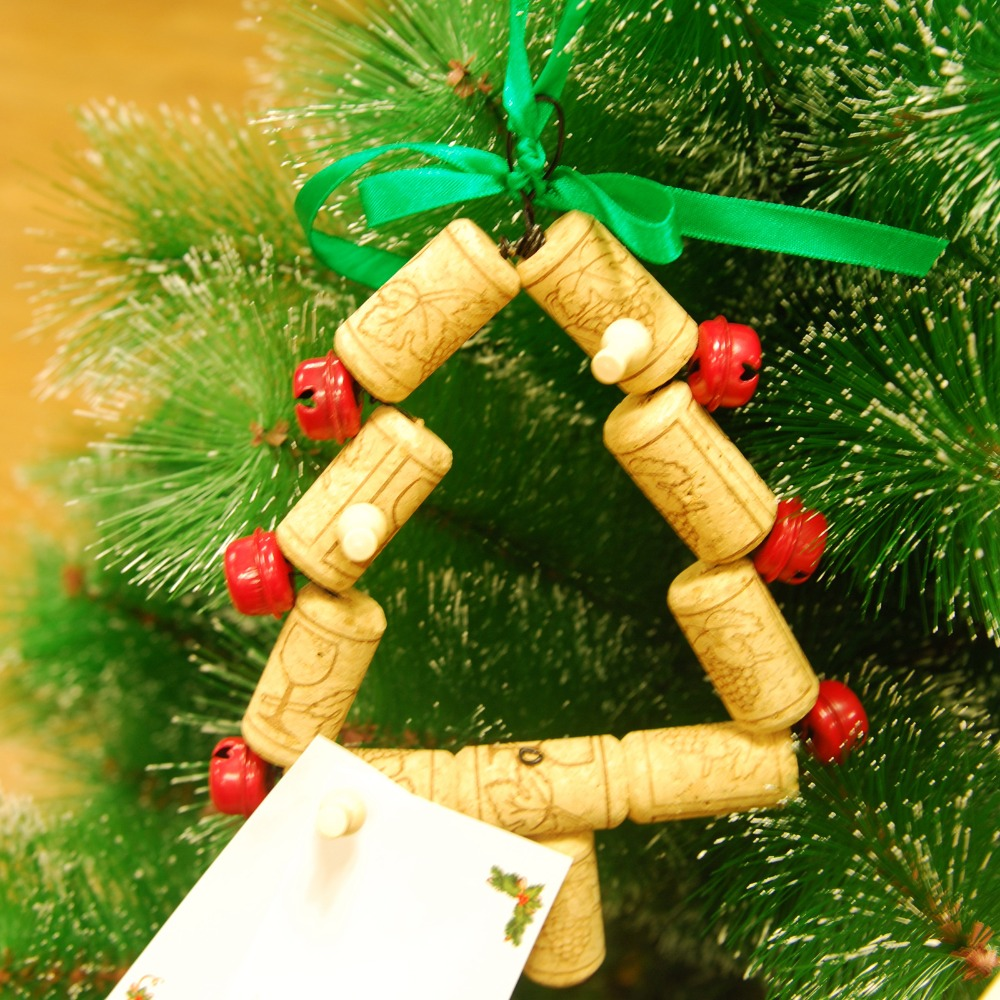Ornaments made from wine corks - Aliexpress Com Buy Hand Made Christmas Tree Sharp Ornament Wine Cork Memory Hanger With Wooden Nail And Paper Card Christmas Decorations For Home From
