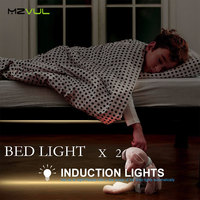 Motion Activated Sensor Double Bed Light 2 1 2M 36LED LED Strip Night Light Automatic Shut