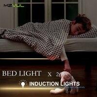 Motion Activated Sensor Double Bed Light 2 1 2M 36LED LED Strip Night Light Automatic Shut