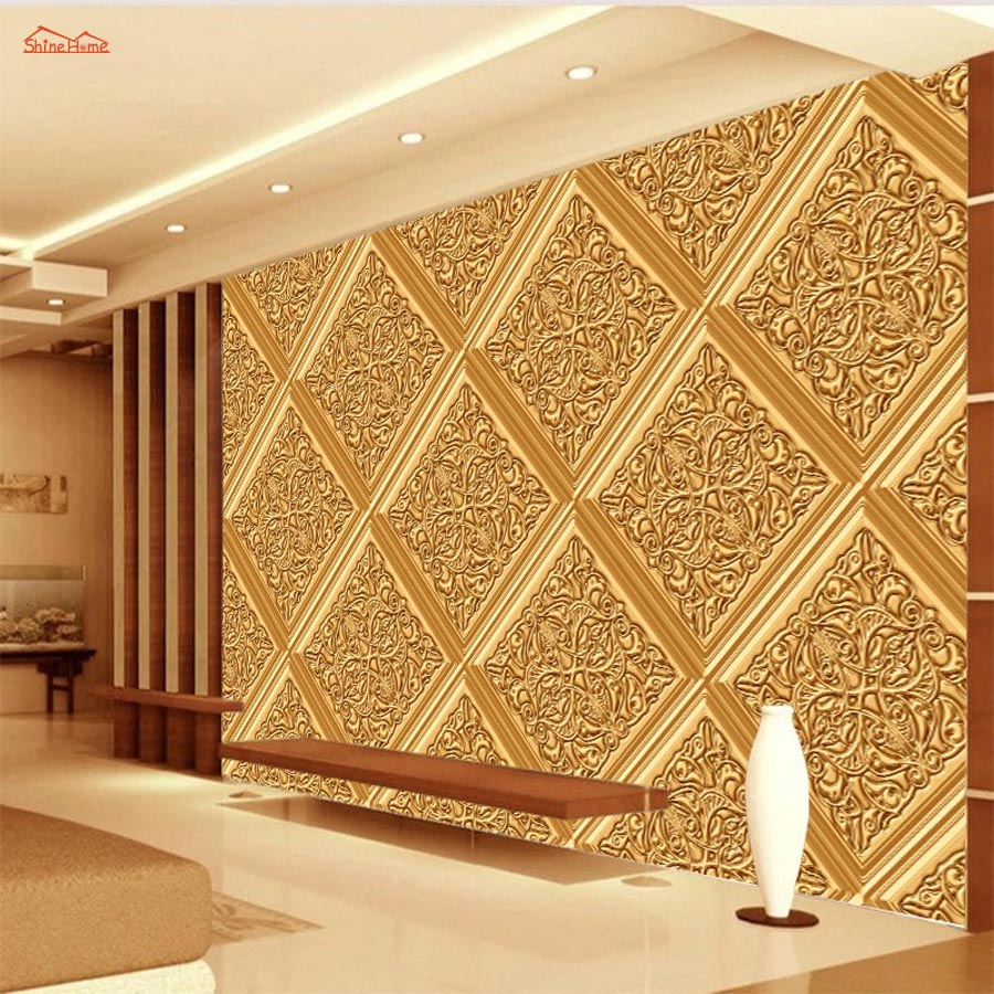 Classical Golden Pattern Soft Rolls Luxury Embossed Wallpaper 3D Room for Livingroom 3d Wall Paper Covering Household Murals luxury classical soft roll background 3d wall paper room mural rolls wallpaper for wall 3 d hotel livingroom bedroom decor