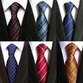 Mantieqingway Para Hombre Accesorios de Moda A Cuadros de Poliéster Corbata de Seda para Hombres Marca Boda 8 cm Flaco Corbata Lazo Corbata de Negocios