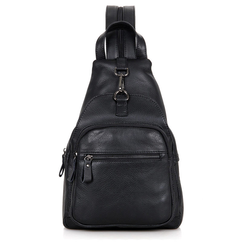 Objective Nesitu High Quality Black Brown Real Skin Genuine Leather Women Men Chest Bag Female Backpacks For Girl M4005 Fine Craftsmanship Luggage & Bags