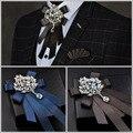 Новая Бесплатная Доставка мужской мужской Корейской звезды инкрустированные алмазами свадьба жених лук изысканный роскошный банкетный ночной клуб супер флэш-галстук